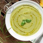 Crema de calabacín y judías verdes sin gluten