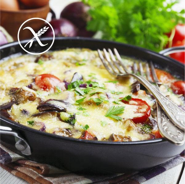 Tortilla de verduras sin gluten