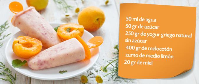 Polos Cremosos De Melocotón Y Yogurt Griego Recetas