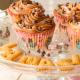 Cupcakes de vainilla y crema de chocolate