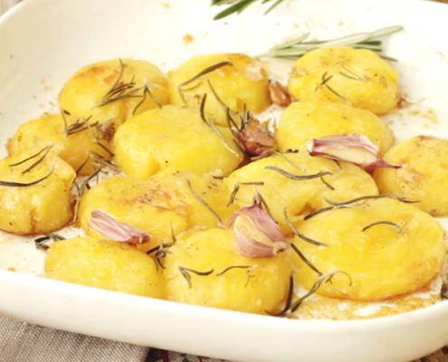 patatas asadas para guarnición