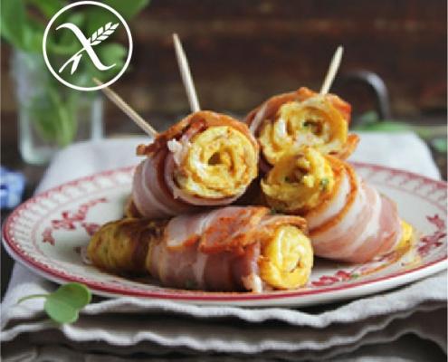 Rollitos de Tortilla con Bacon