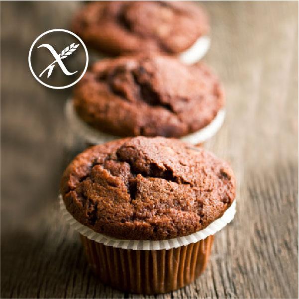 Recetas Muffins de Chocolate Sin Gluten