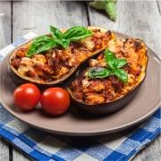 Mini receta de berenjenas rellenas a la boloñesa