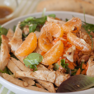 ensalada de pollo oriental
