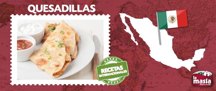 quesadillas mexicanas de jamon y queso