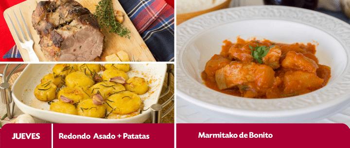menu semanal recetas del 20 al 24 abril