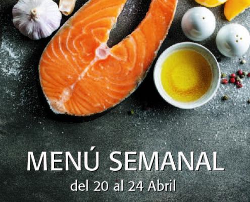 Menú Semanal del 20 al 24 Abril