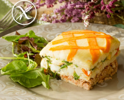 Receta pastel vegetal sin gluten