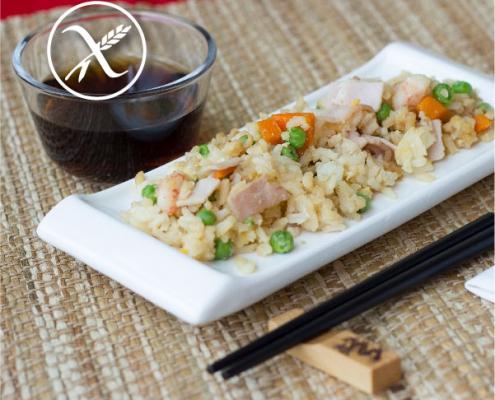 Receta arroz tres delicias sin gluten