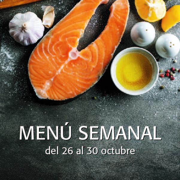 Menú Semanal del 26 al 30 octubre