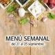 Menú Semanal del 21 al 25 septiembre