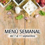 Menú Semanal del 7 al 11 septiembre