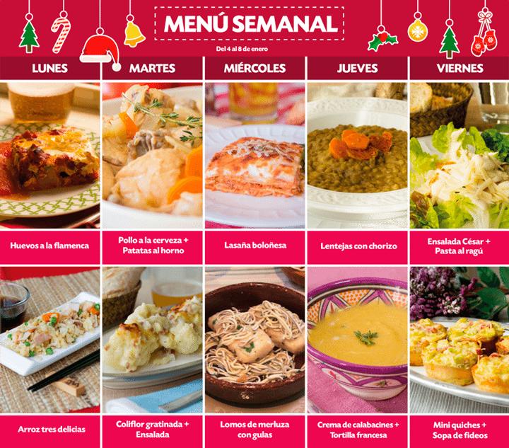 Cocina 1 Dia Para Toda La Semana Of Recetas Ensaladas Receta Men Semanal Del 4 Al 8 De Enero