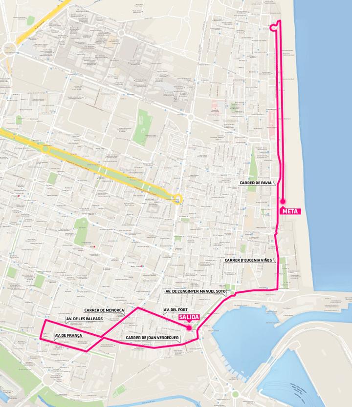 Mapa Carrera Mujer Valencia