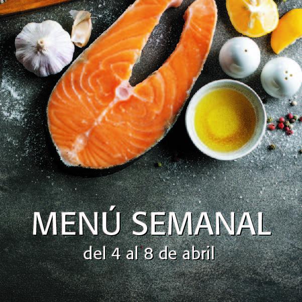 Menú Semanal del 4 al 8 de abril