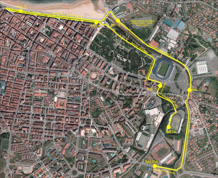 Mapa Carrera Mujer Gijón