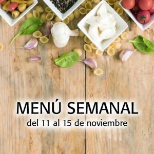 Menú semanal del 11 al 15 de noviembre