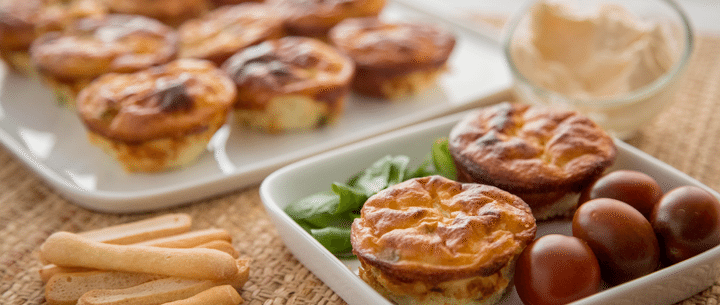 Tortilla de patata en cupcake