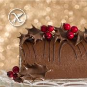 Receta Tronco de Navidad Sin Gluten