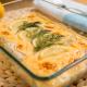 merluza con mayonesa gratinada al eneldo