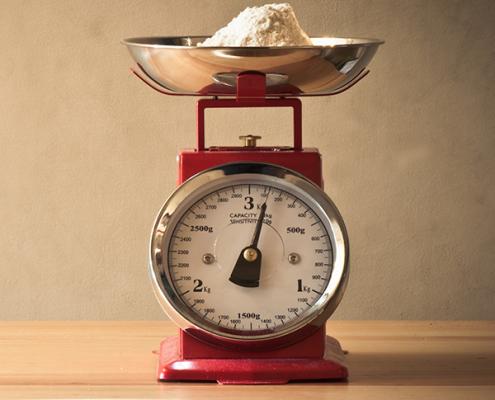 Equivalencias peso vaso de yogur