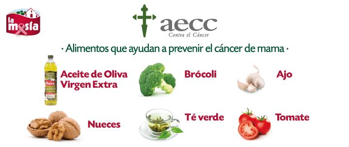 AECC: Alimentos prevenir cáncer de mama
