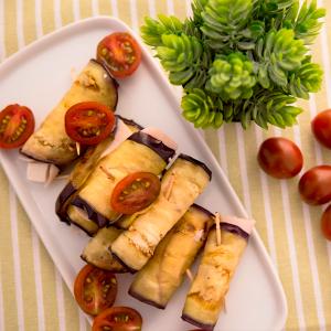 rollitos de berenjena rellenos de pavo y queso fresco