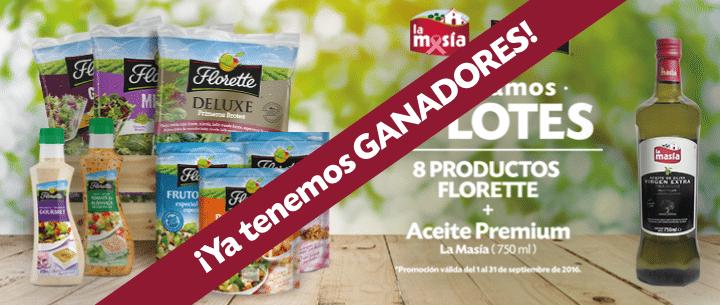 Ganadores promo La Masía & Florette