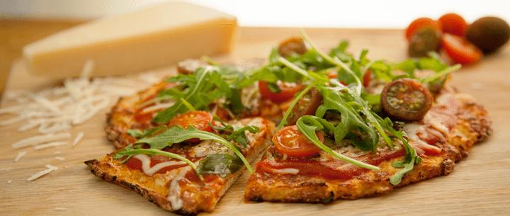 Pizza con masa de coliflor (Sin Gluten)