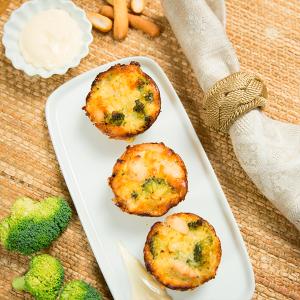 cupcakes de pollo y brócoli