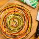 tarta de verduras en espiral