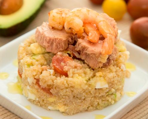 ensalada de quinoa con atún
