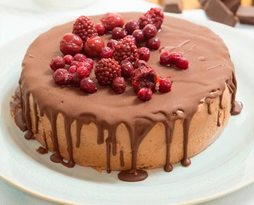 tarta de yogur y chocolate con aceite de coco
