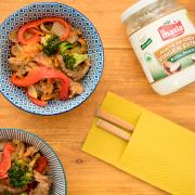 wok de ternera con aceite de coco
