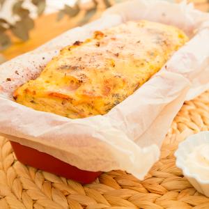 pastel de pollo relleno de jamón y queso