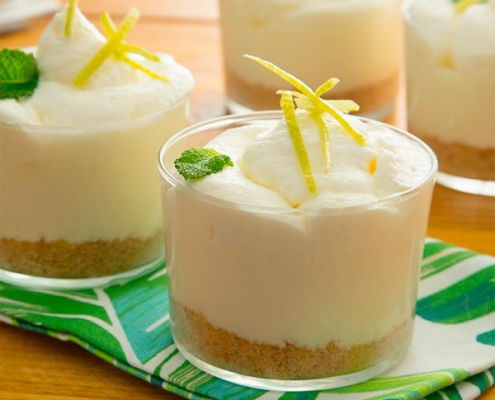 tarta de queso al limón