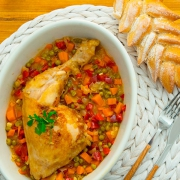 pollo a la jardinera