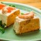 pastel de bacalao, langostinos y mejillones