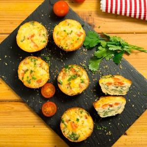 upcakes de espinacas y tomate