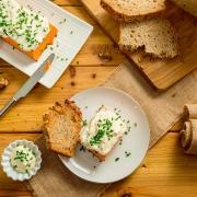 Pastel de piquillos y cangrejo
