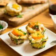 huevos envueltos en calabacín