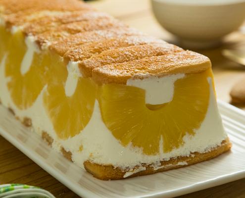 Tarta de piña y yogur sin horno