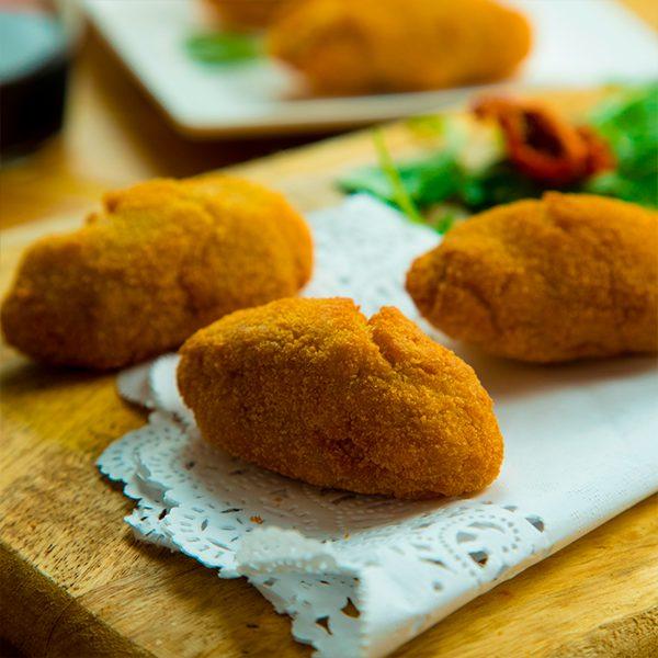 Croquetas de berenjenas y queso de cabra