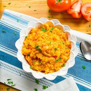arroz caldoso con gambas y sepia