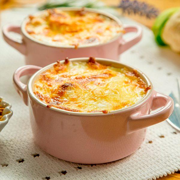 merluza con coliflor gratinada