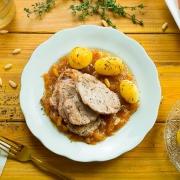 solomillo de cerdo con salsa de membrillo