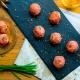 bombones de jamón y pera