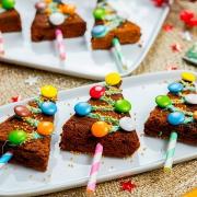 árboles de navidad de chocolate