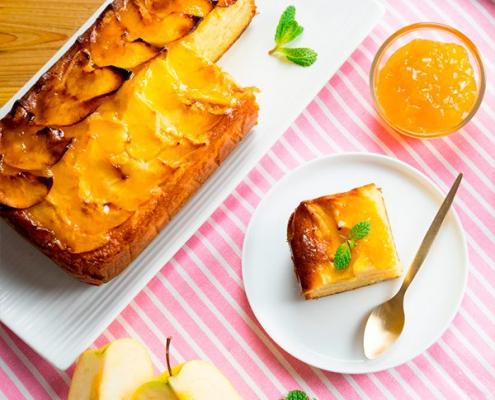 bizcocho de manzana y zanahoria